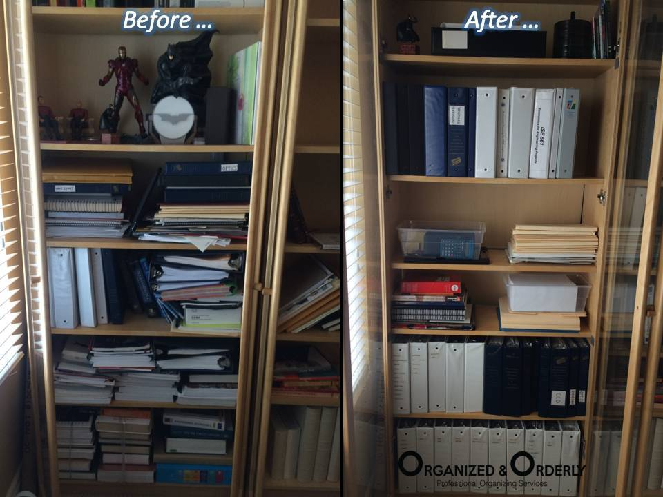 Shelves and Drawers Organization before and after