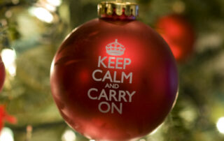 Keep Calm and Carry On Christmas Ornament