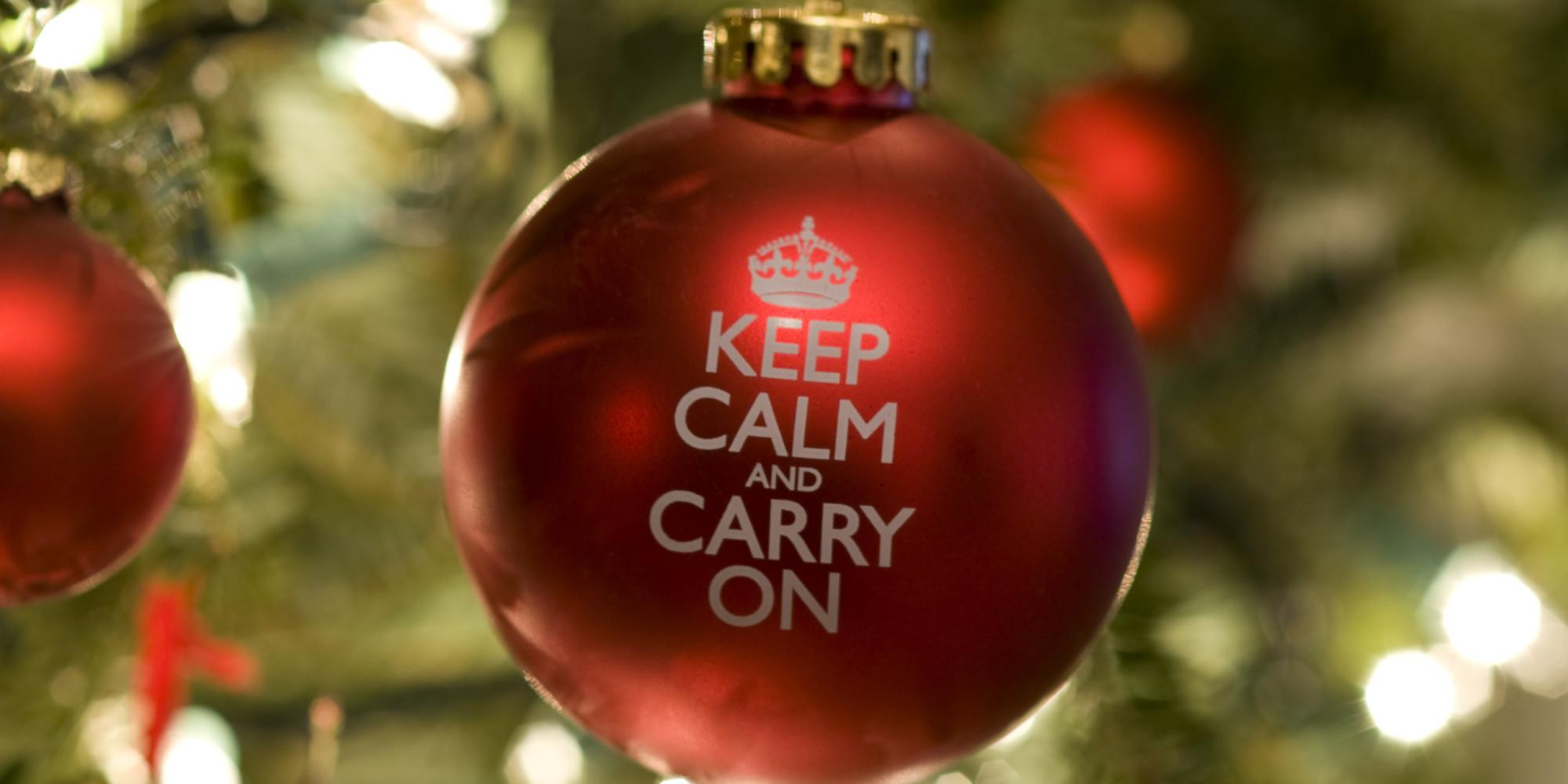 Keep Calm and Carry On Christmas Ornament