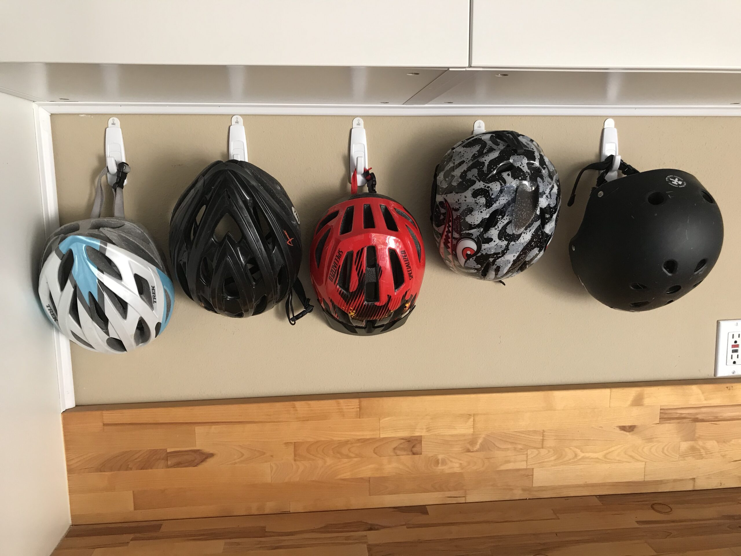 Bicycle Helmet Organizing