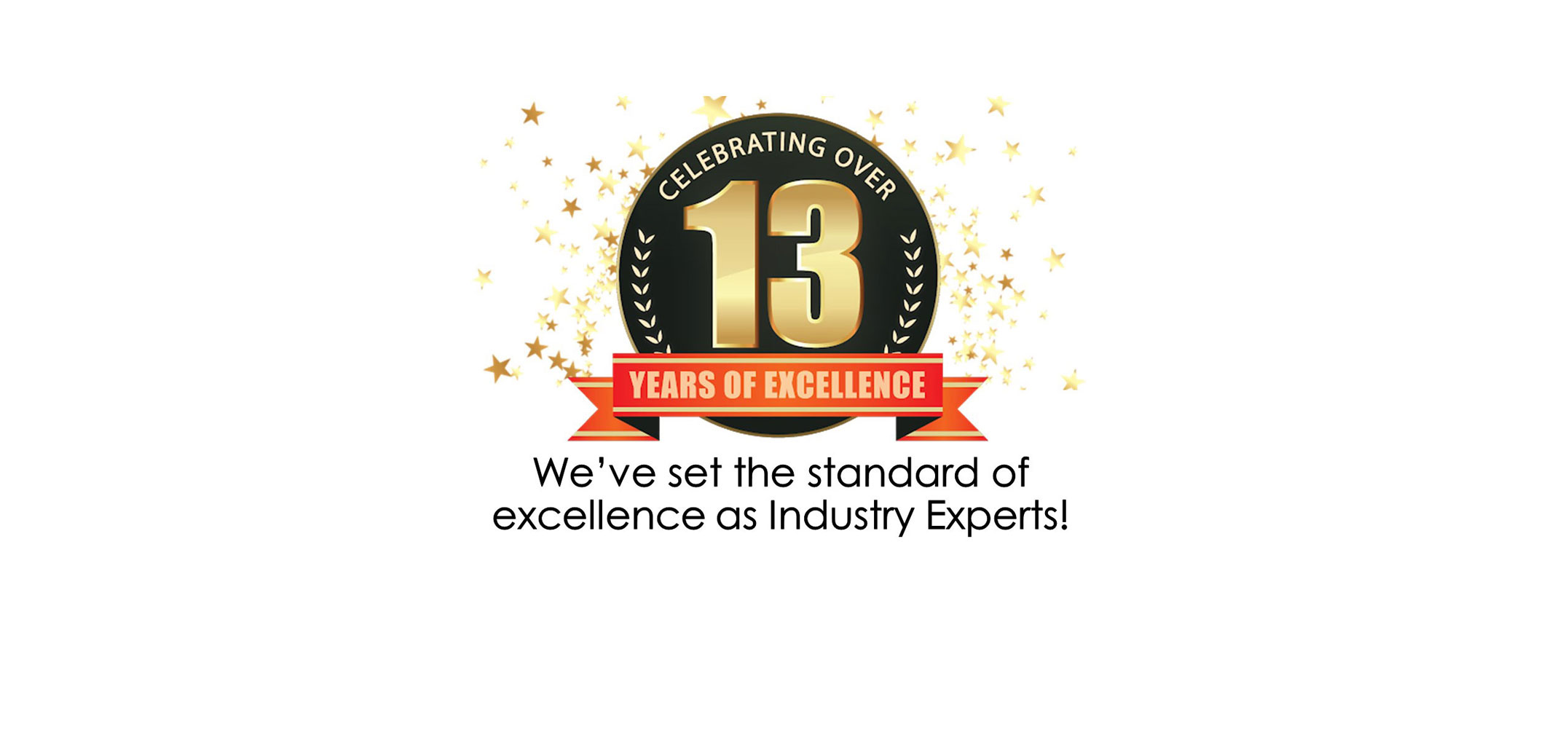 Celebrating Over 13 Years of Excellence - We've set the standard of excellence as industry experts