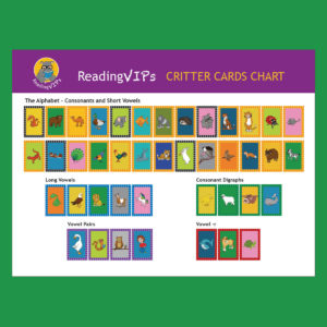ReadngVIPs Critter Cards Placemat