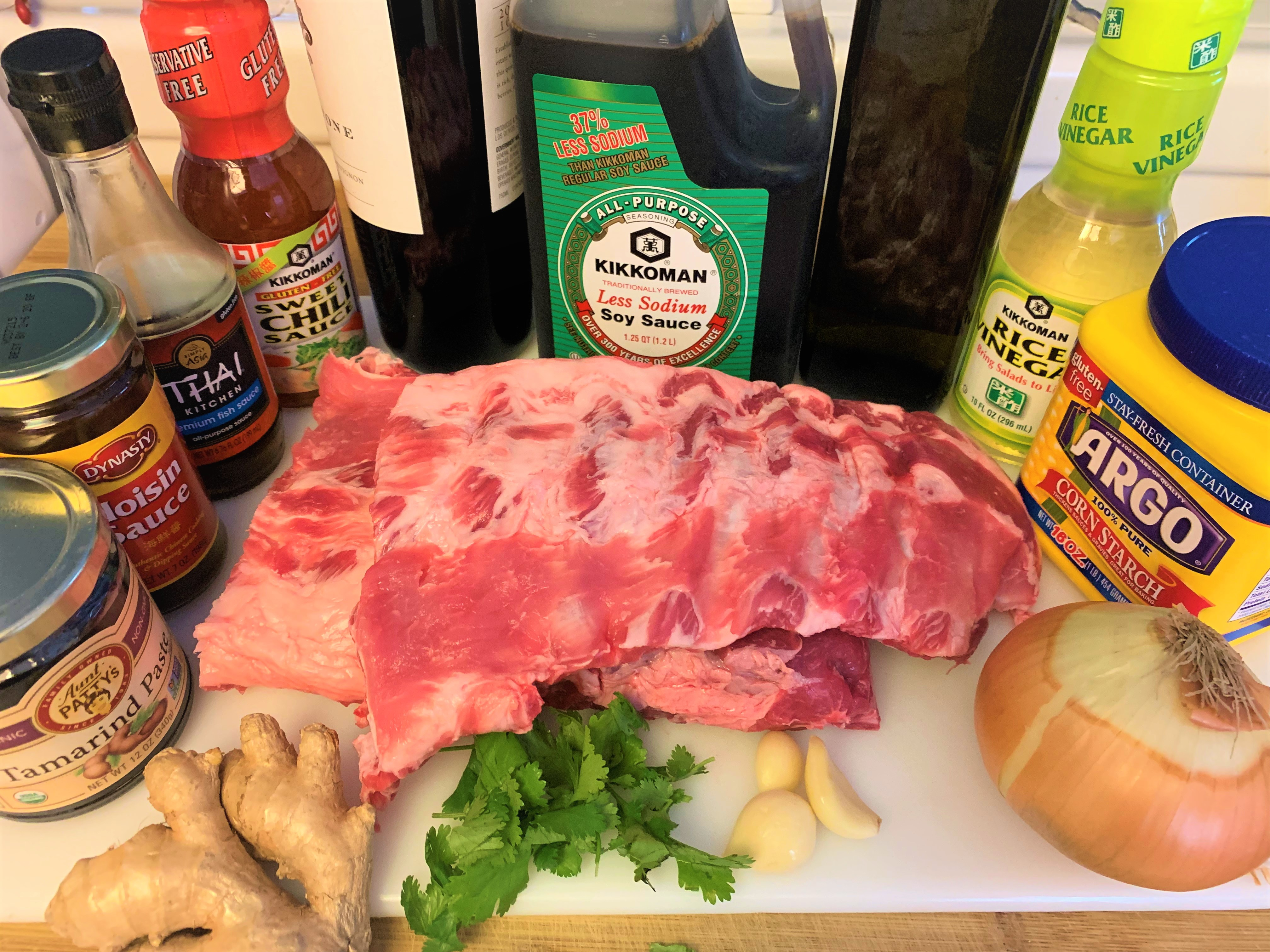 Hoisin Sticky Spare Ribs - Ingredients