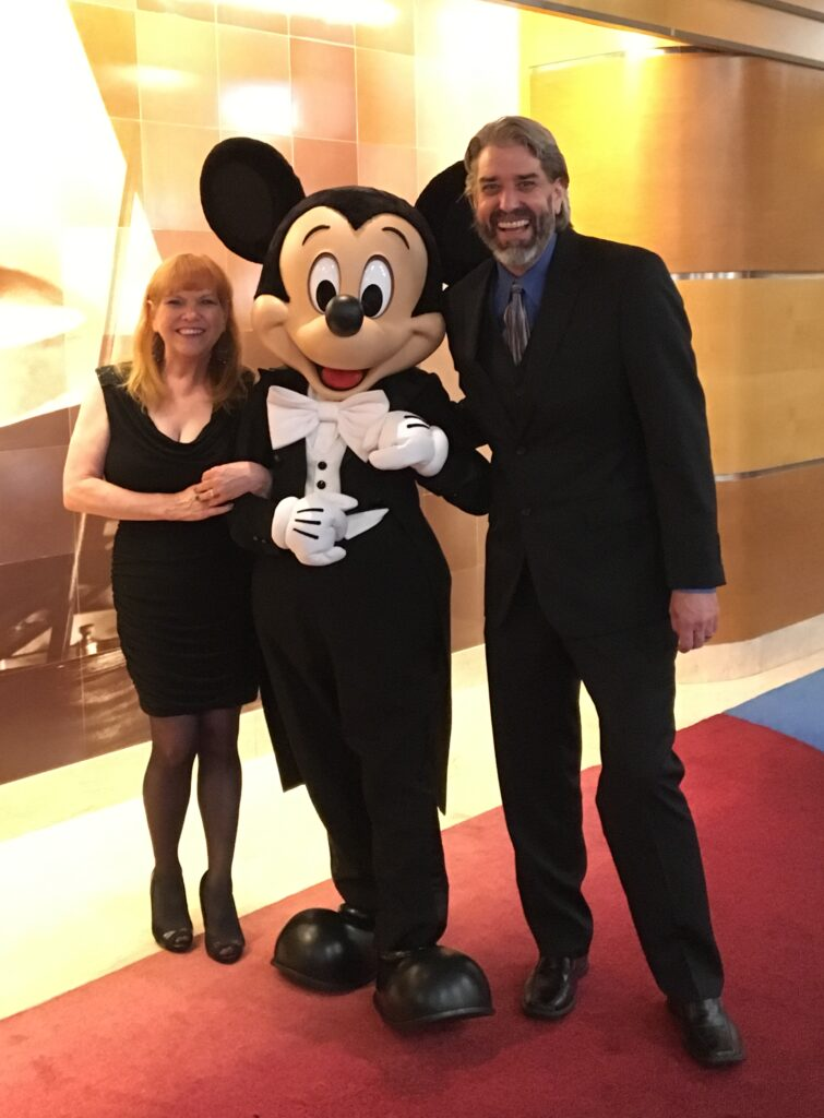 Tom, Michelle and Mickey - Disney Wonder - Disney Cruise Line