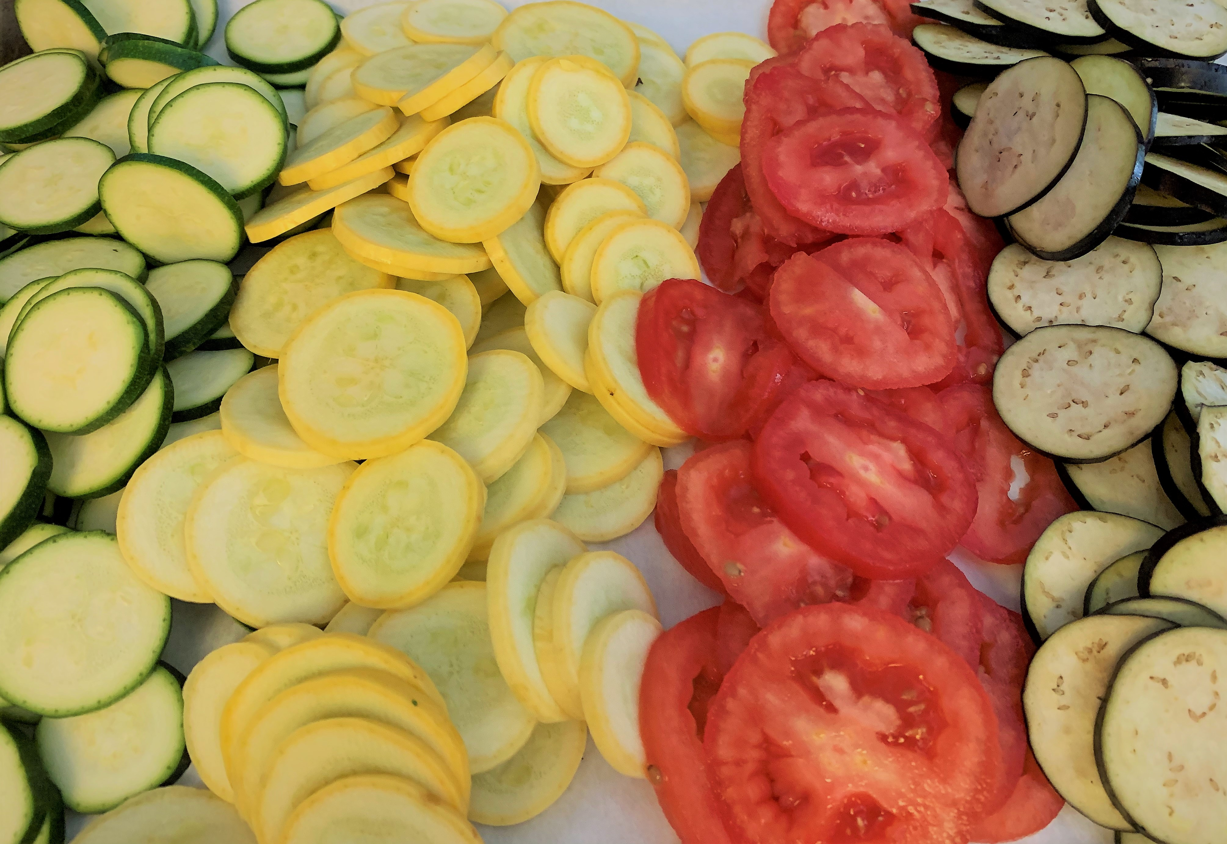 Sliced Vegetables For Our Ratatouille From Ratatouille - Food From Disney Movies