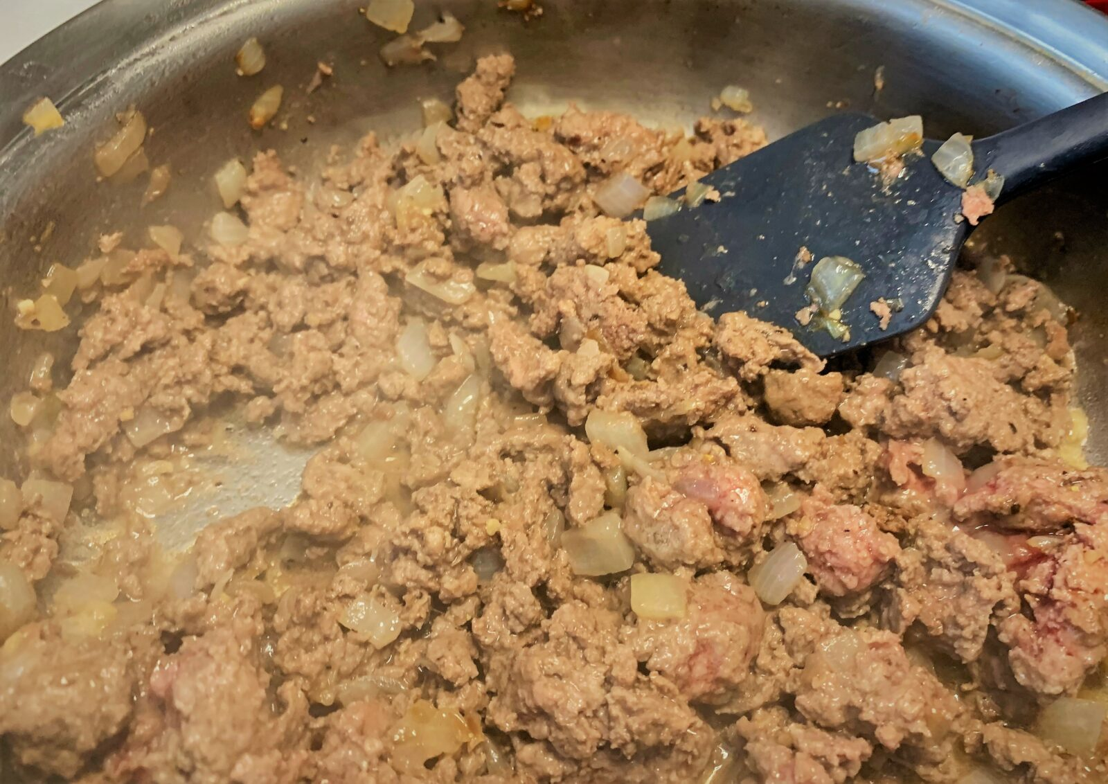 Browning our ground beef