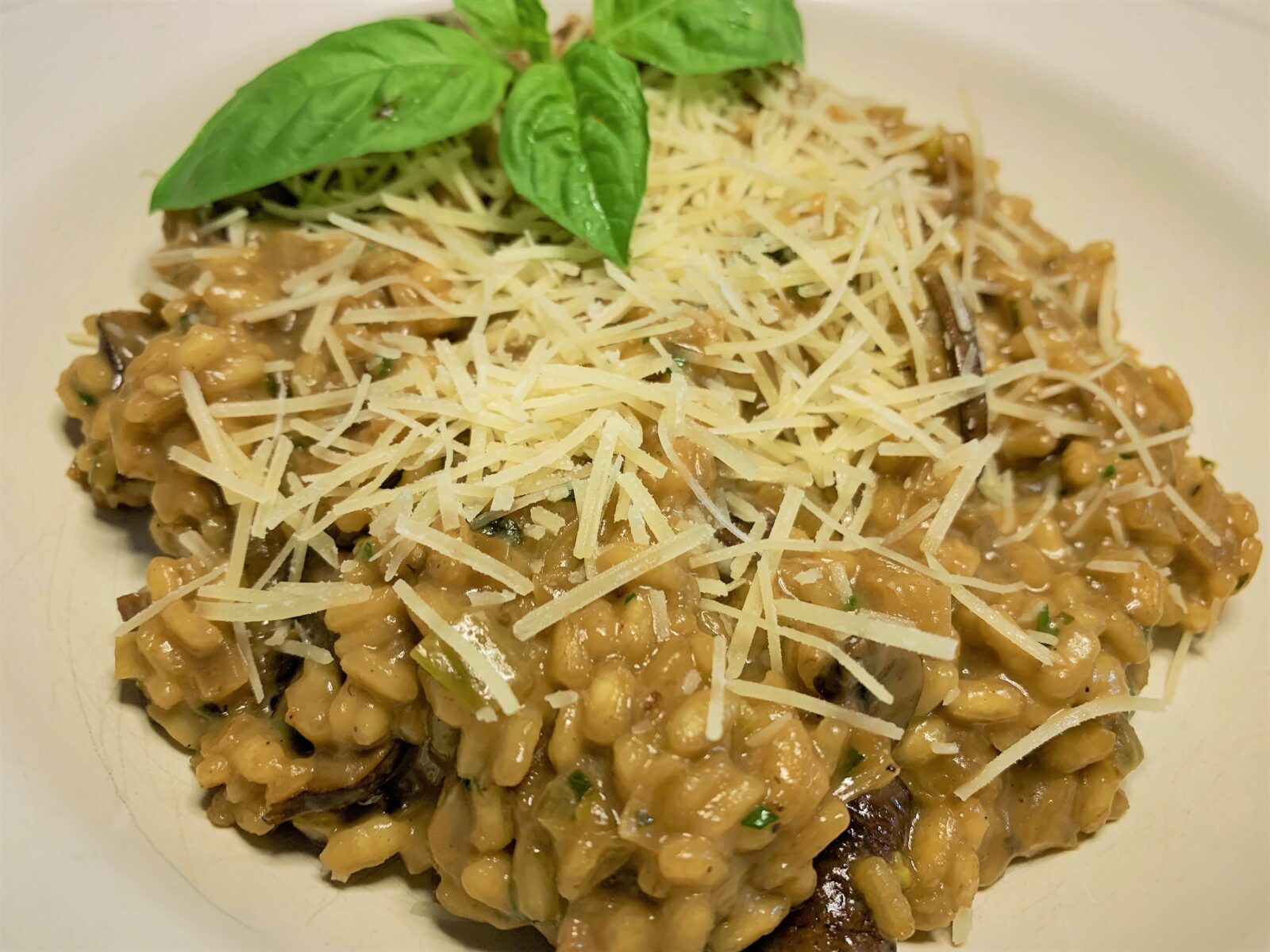 Our completed WIld Mushroom Risotto
