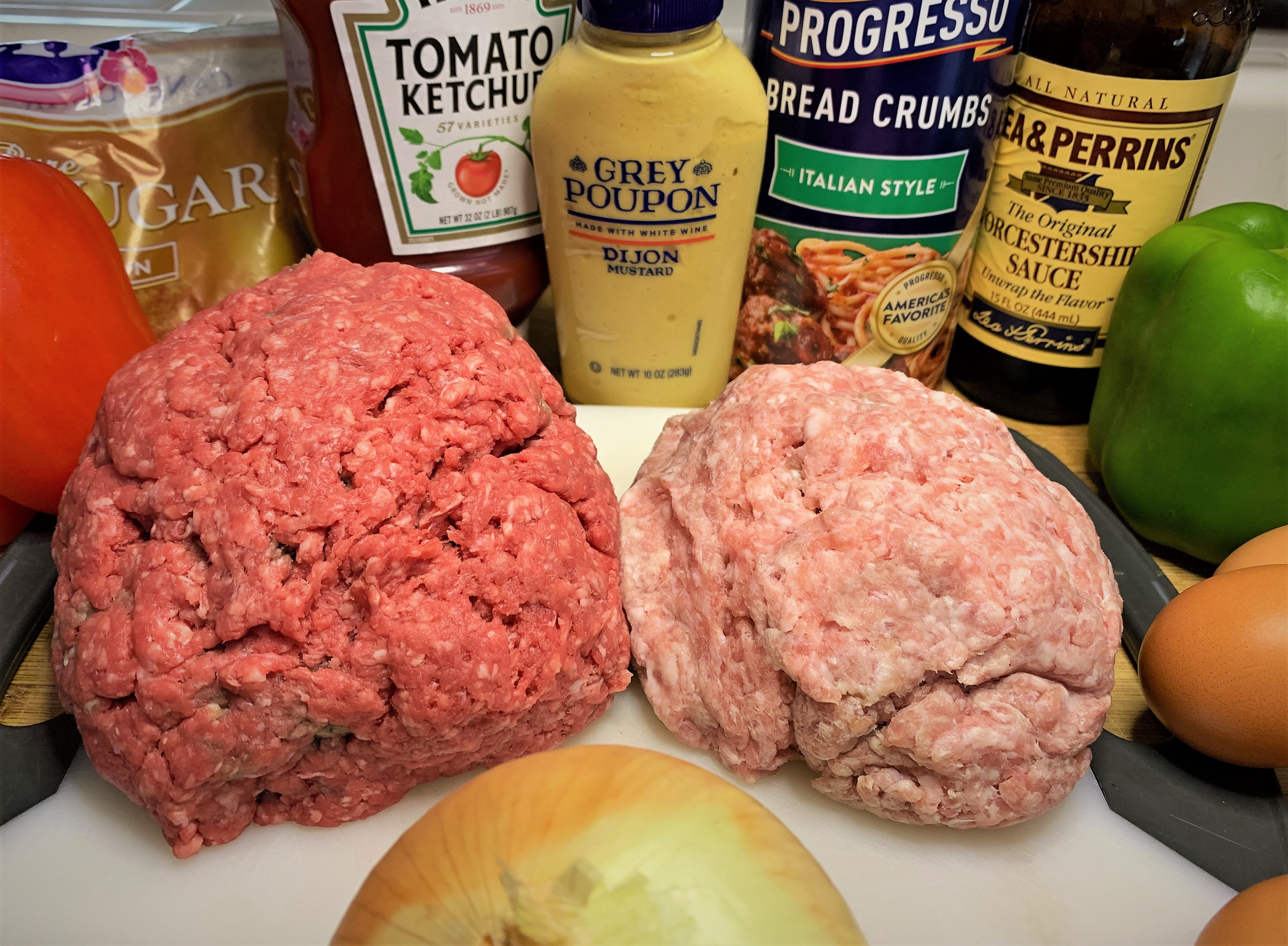 Cousin Megan's Traditional Meatloaf - Ingredients