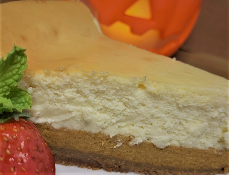 Our plated Pumpkin Cheesecake