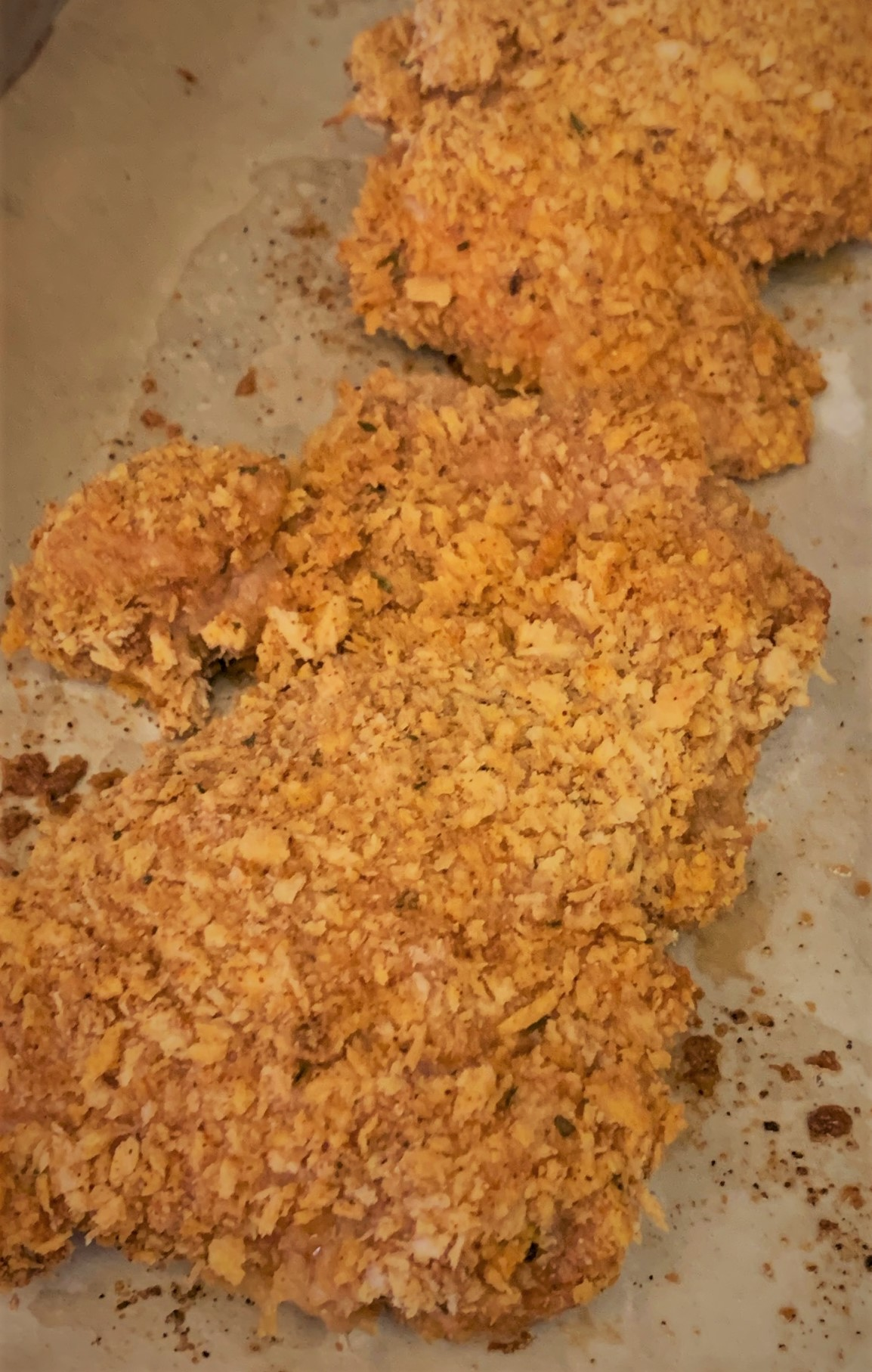 """Our fully roasted Oven """"Fried"""" Chicken"""
