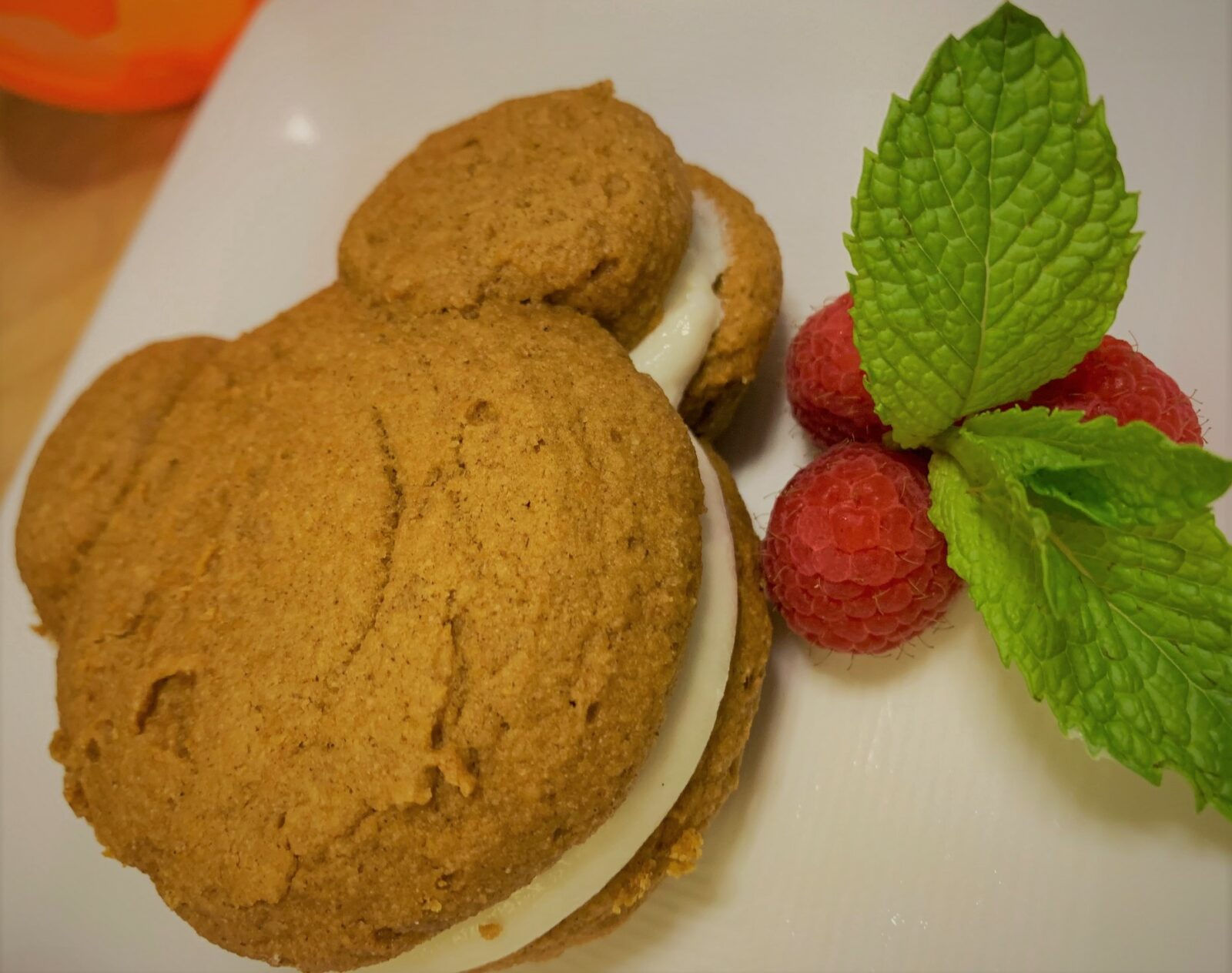 Our completed Pumpkin Mickey Whoopie Pies