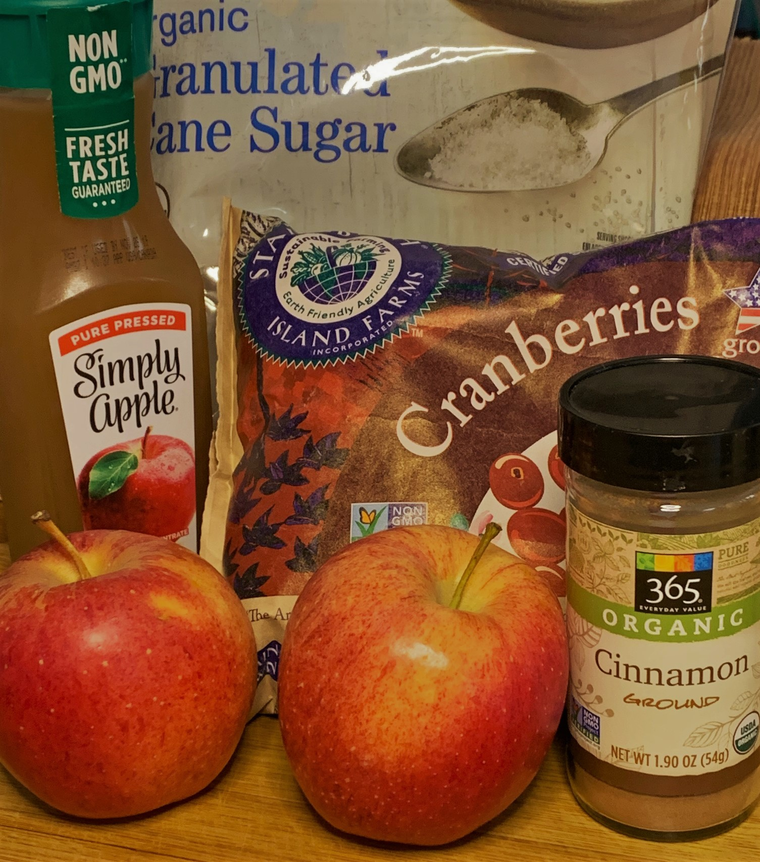 Our Apple-Cinnamon Cranberry Sauce Ingredients