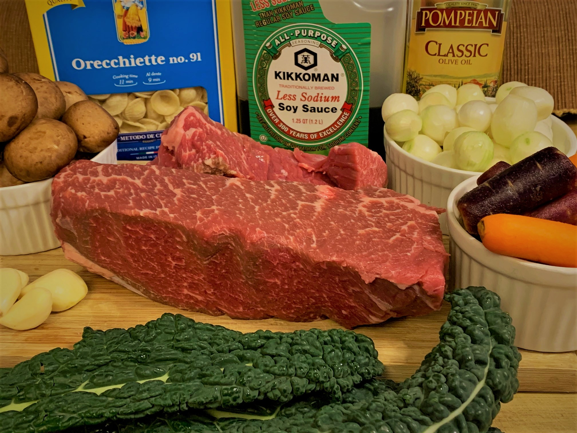 The ingredients for our Braised Shaak Roast from Docking Bay 7 Food & Cargo
