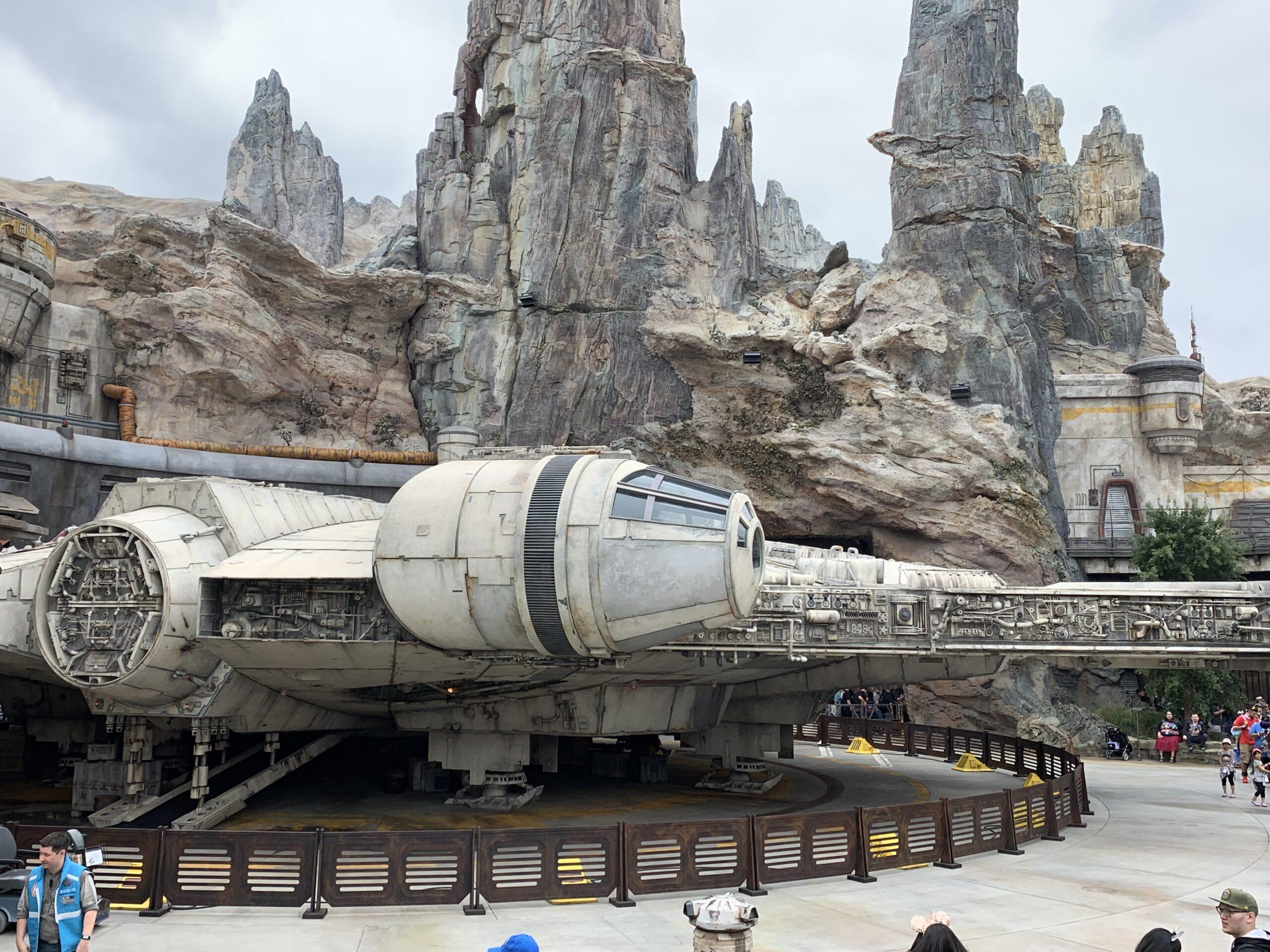 Millennium Falcon at Star Wars: Galaxy's Edge