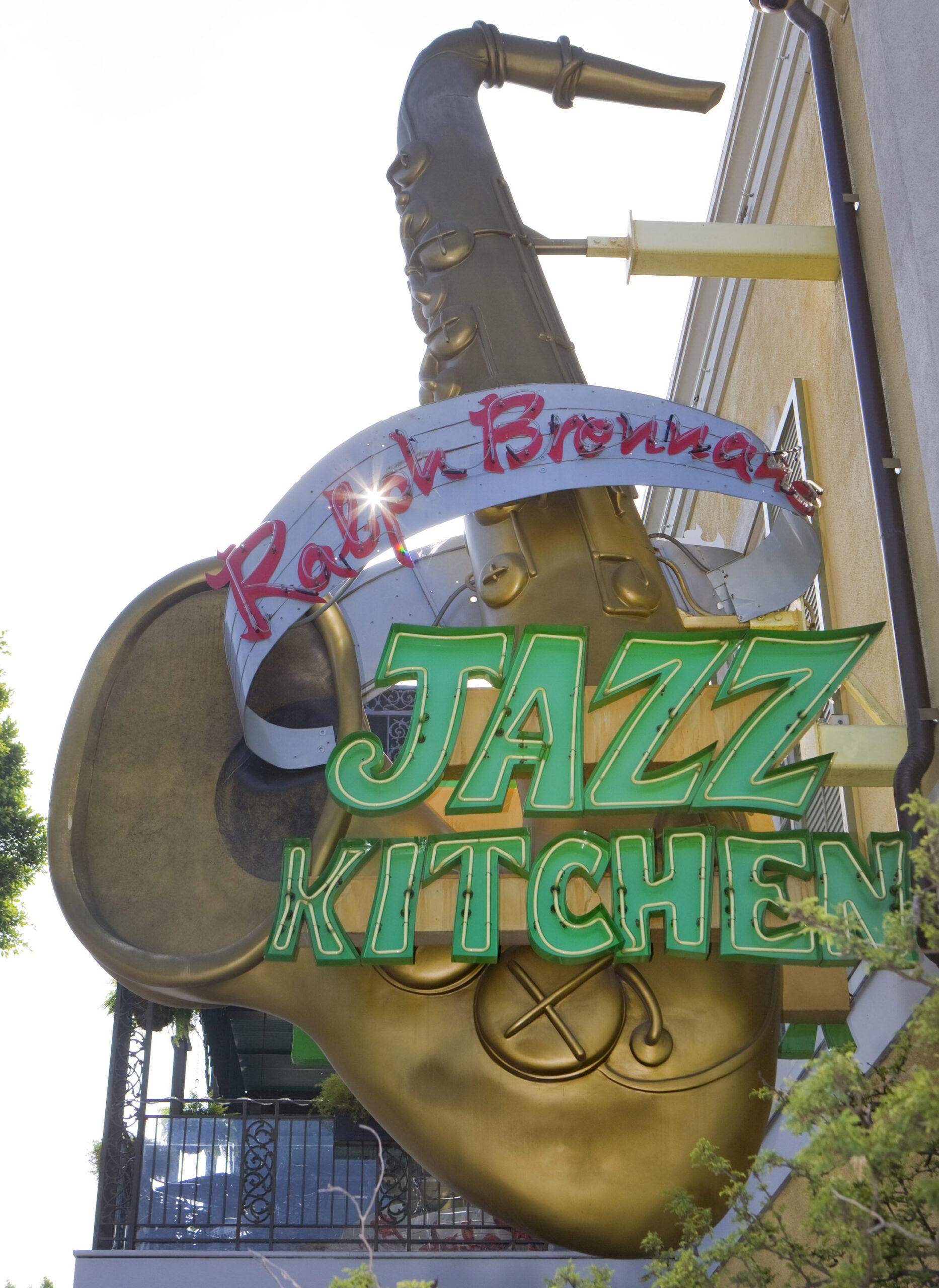 Ralph Brennan's Jazz Kitchen Sign - Downtown Disneyland - Shrimp & Grits from Ralph Brennan's Jazz Kitchen