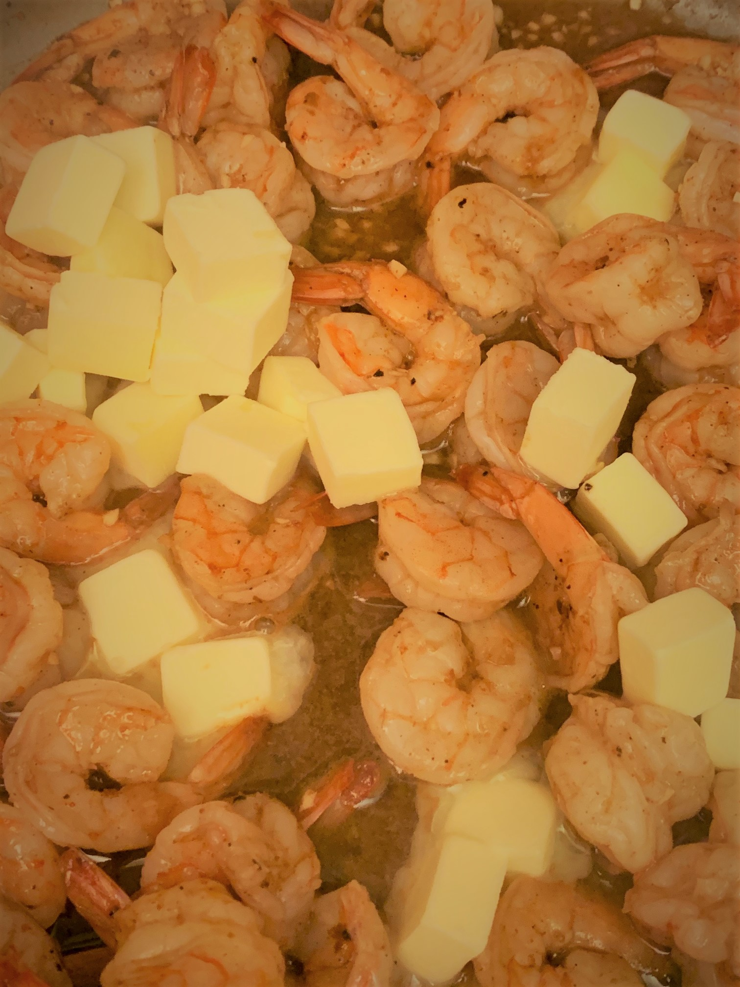 Butter added to the Shrimp