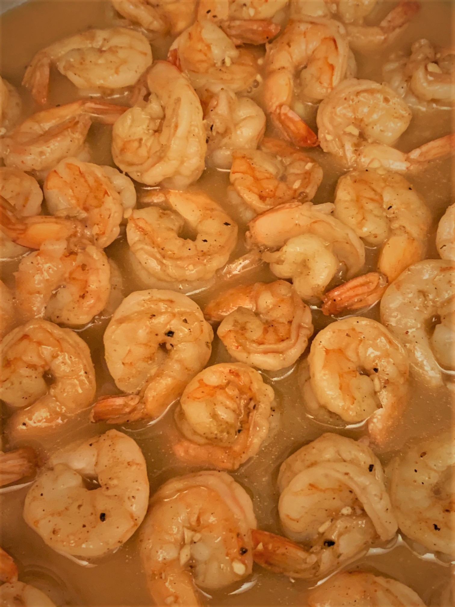 Our fully cooked Shrimp and Sauce