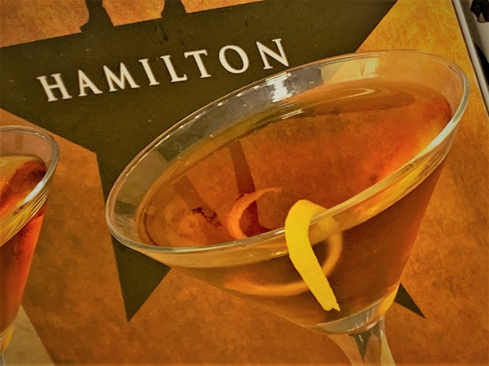 Our completed Aaron Burr-bon Manhattan - A Hamilton Inspired Cocktail