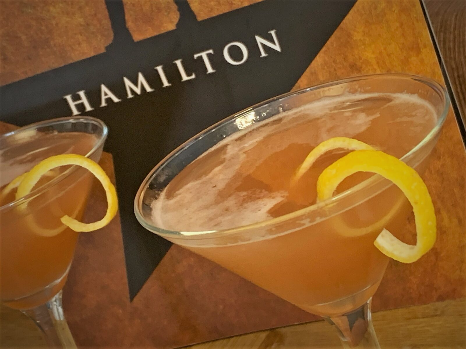 Our completed America's Favorite Fighting French Martini - A Hamilton Inspired Cocktail