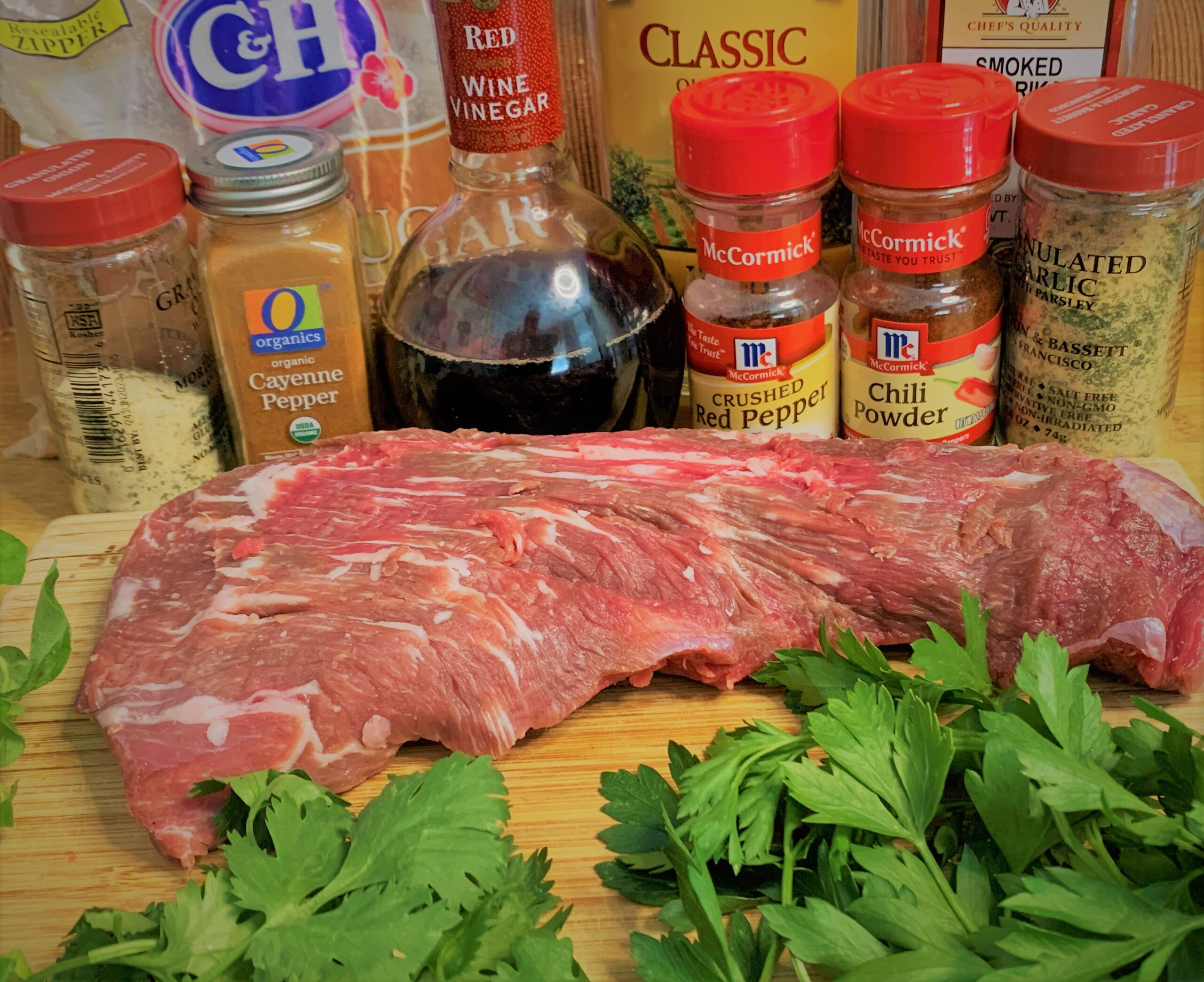 The ingredients for our Santa Maria Style Tri-Tip with Chimichurri