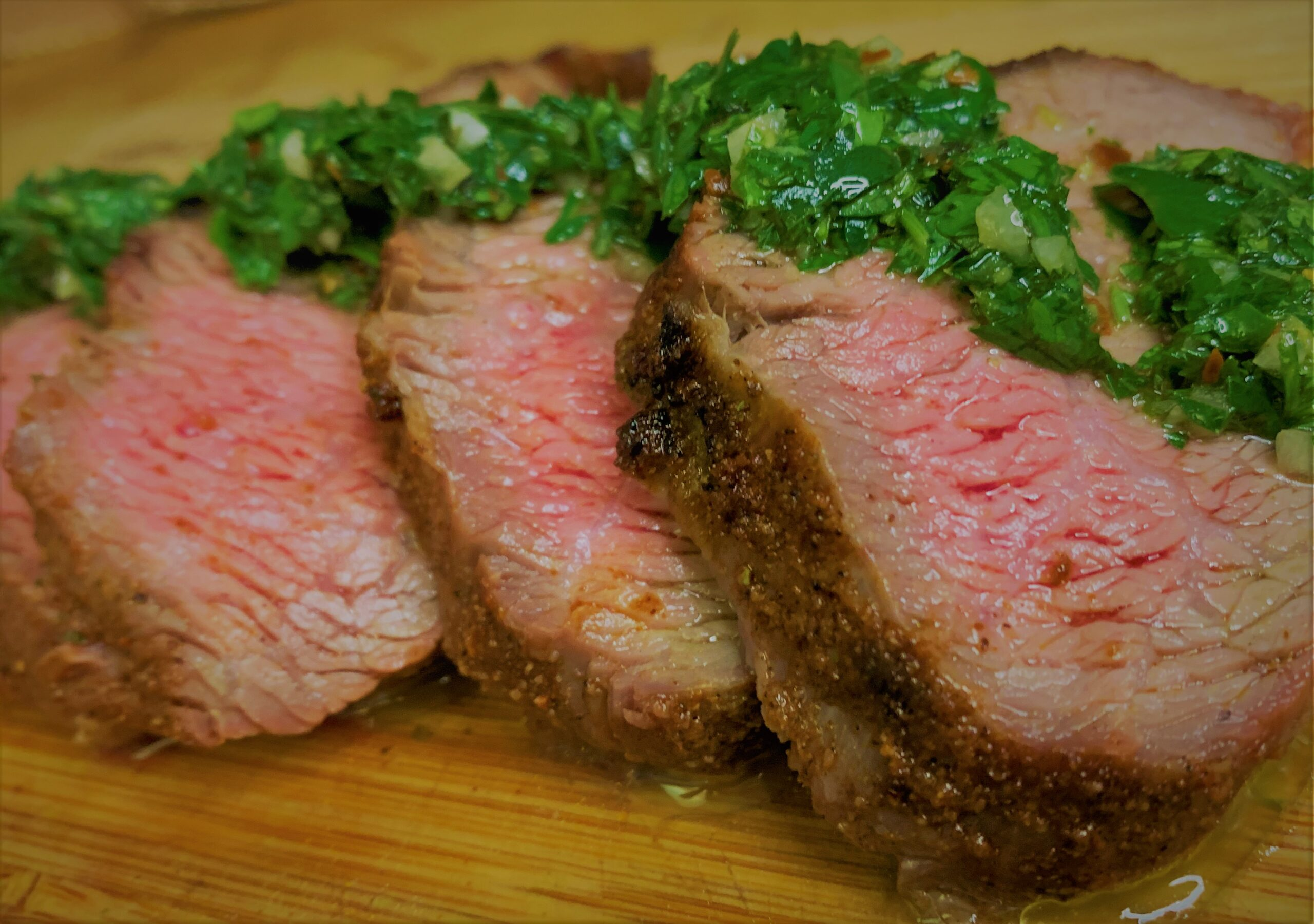 Our completed Santa Maria Style Tri-Tip with Chimichuri