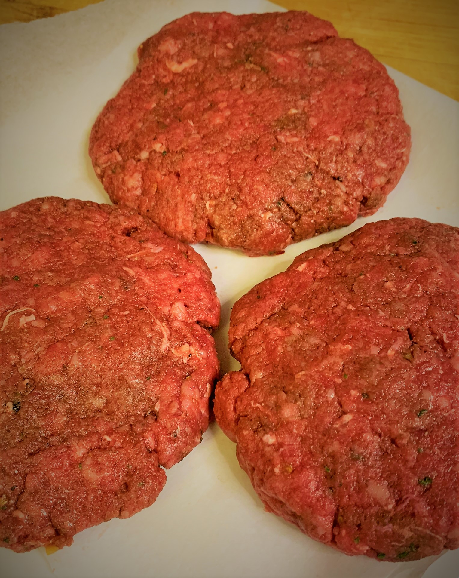 Our fully formed Beef Burger Patties for our Mickey Monster Mash Burger from Cosmic Ray's Starlight Cafe