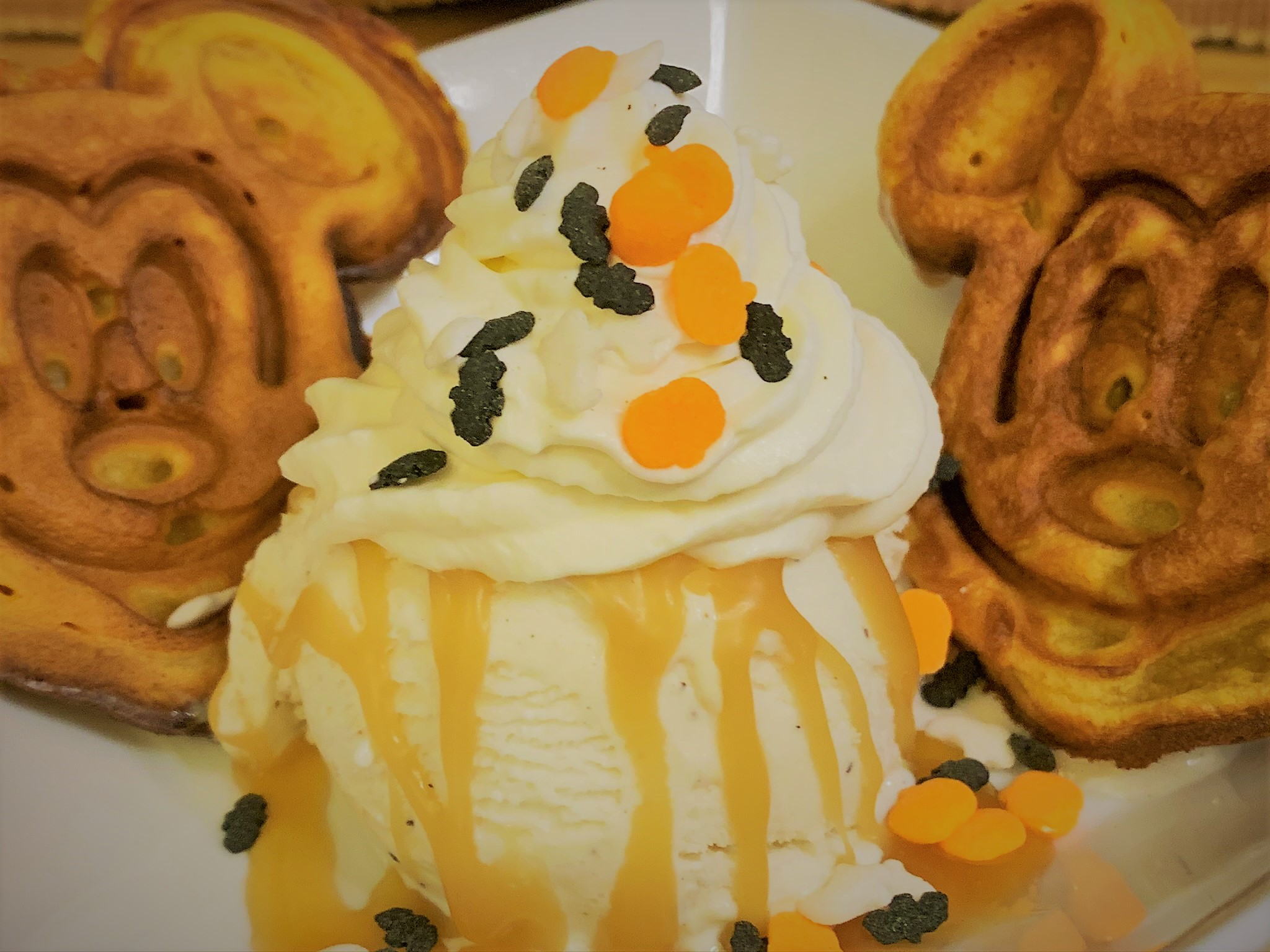 Our fully plated Pumpkin Spice Waffle Sundae