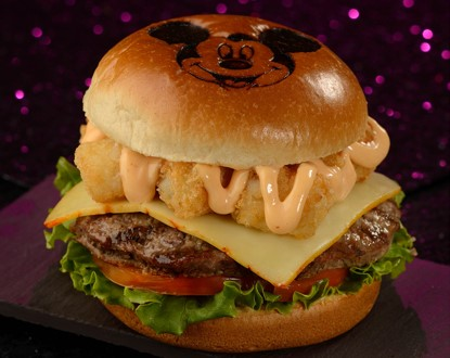 Mickey Monster Mash Burger from Cosmic Ray's Starlight Cafe