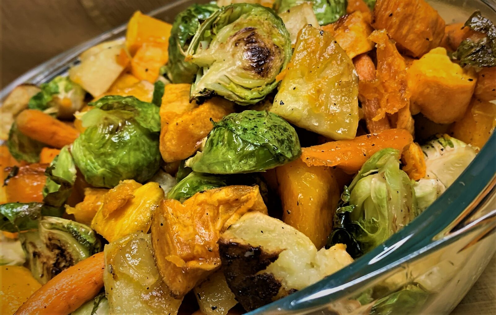 Our completed Roasted Fall Vegetable Medley