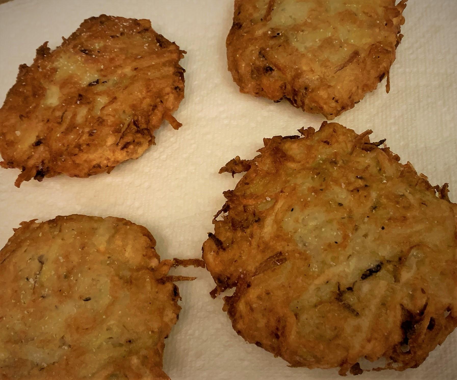 Our fried Potato Latkes