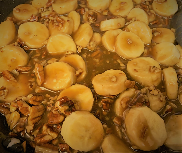 The Pecan Praline Sauce for our Boma French Toast Bread Pudding