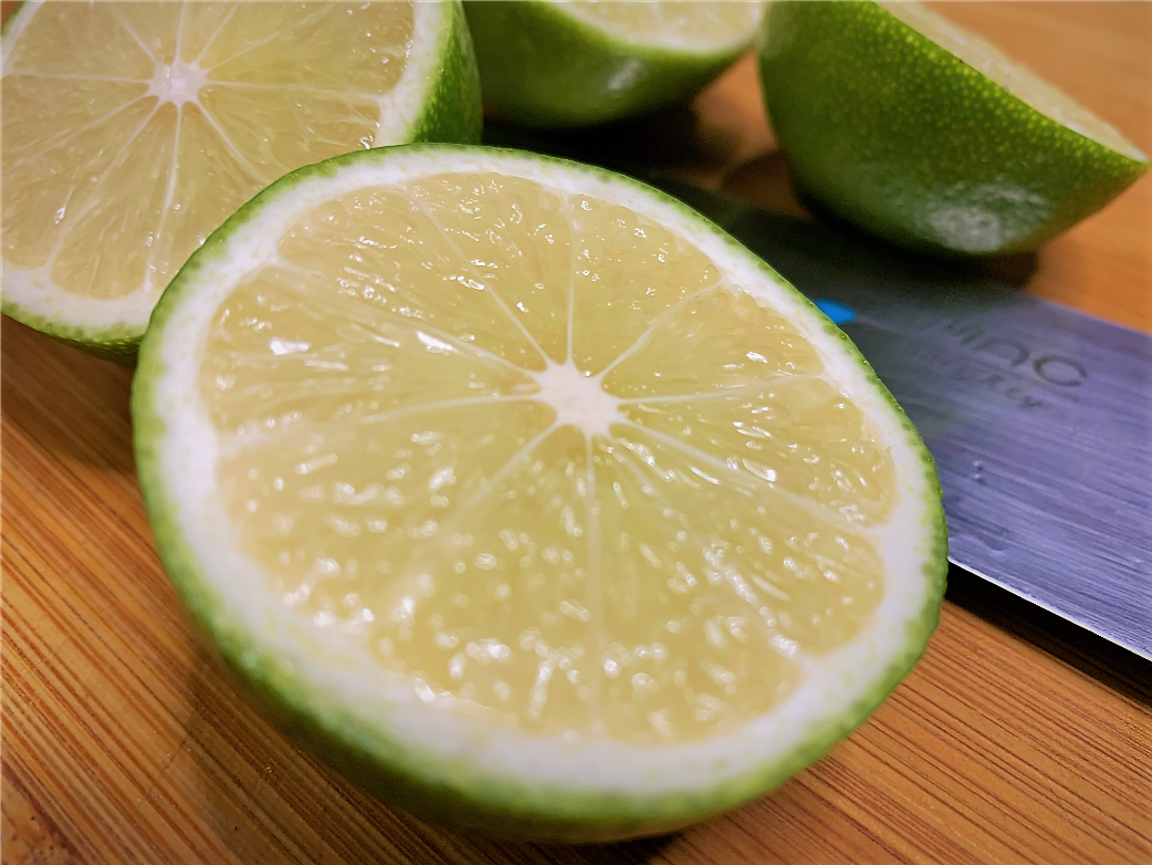 Cut limes ready for juicing
