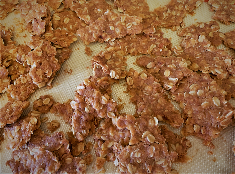 Our crumbled Oatmeal Streusel for the Warm Berry Buckle Recipe from the Epcot International Flower & Garden Festival