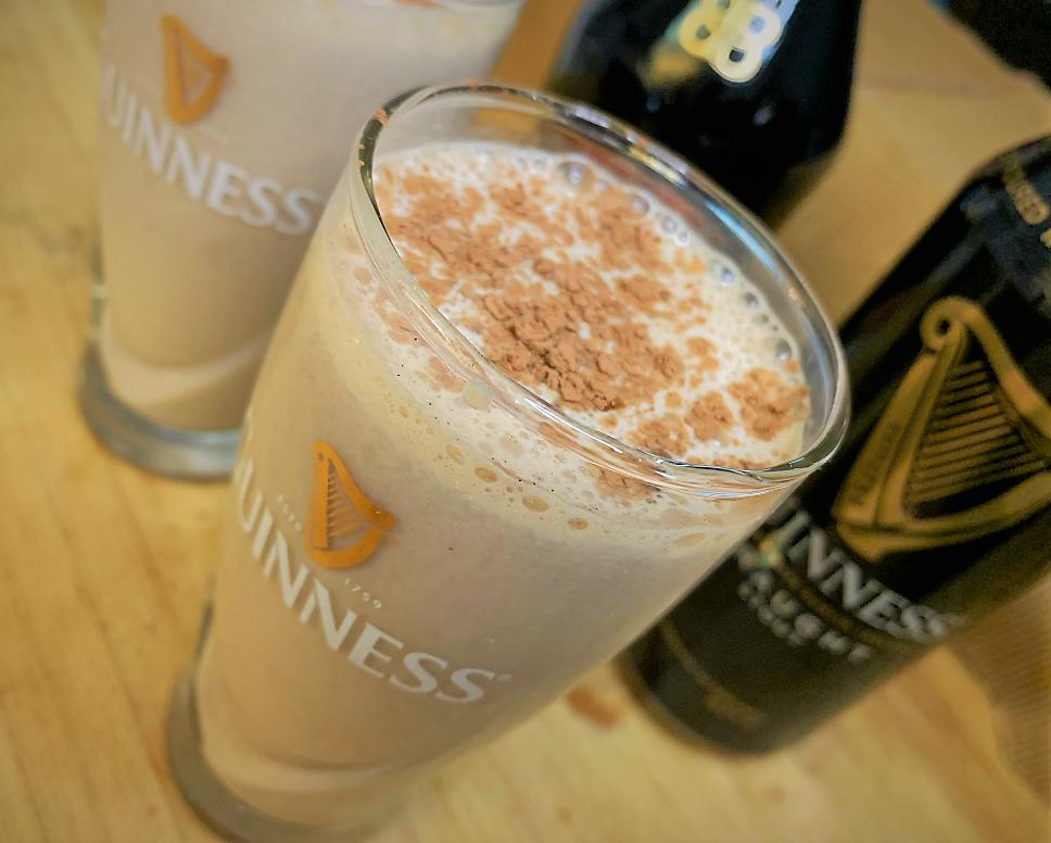 Our completed Guinness Baileys Milkshake Recipe