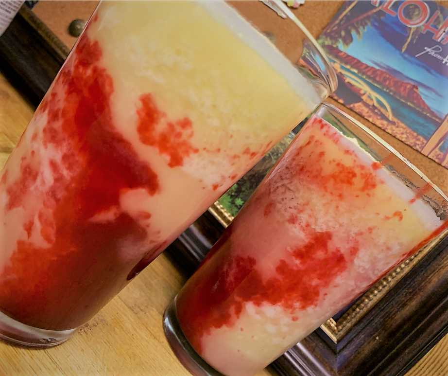 Our completed and served Disney Dishes Piña Colava Recipe