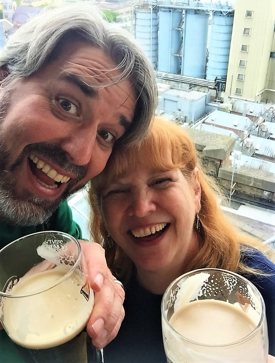 Tom & Michelle at the Guinness Brewery in Dublin, Ireland - Guinness Baileys Milkshake Recipe