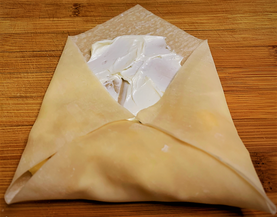 Folding in the sides of the Spring Roll Wrapper