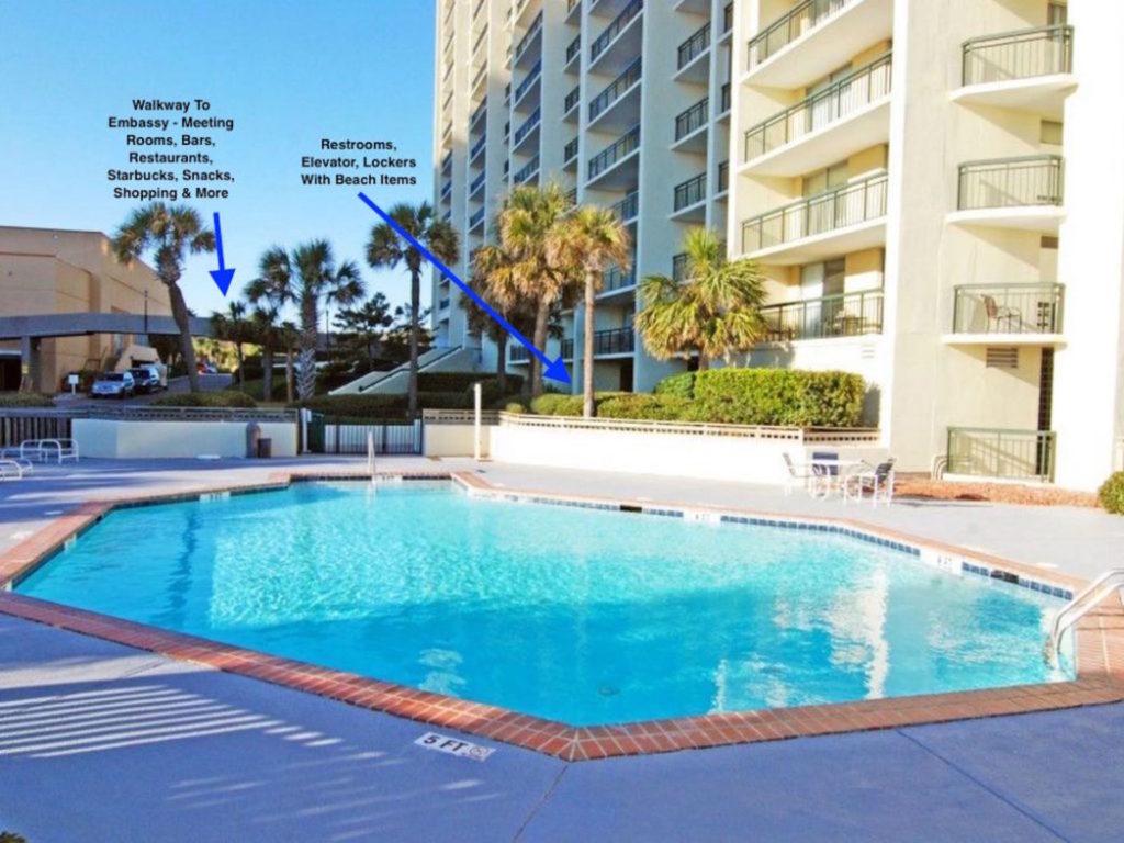 South Hampton Pool With Embassy Walkway