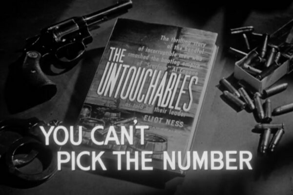 """""""You Can't Pick the Number"""" originally aired on December 24th, 1959. Eliot Ness finds an opening to take down the numbers racket in Agent Flaherty's old friend in this hour as a shadowy syndicate emerges for the first time in the series."""