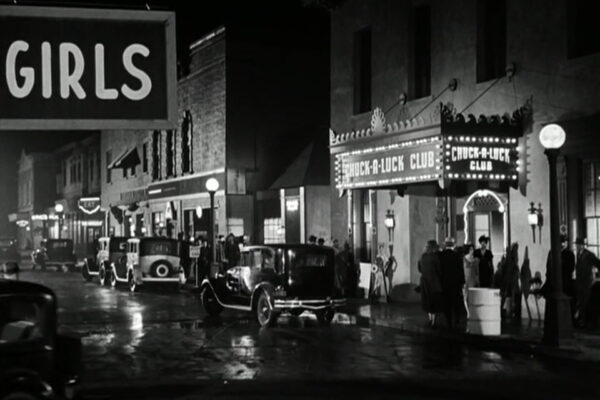The Sin Strip, portrayed in Desilu's backlot, actually existed existed until the 1980s.