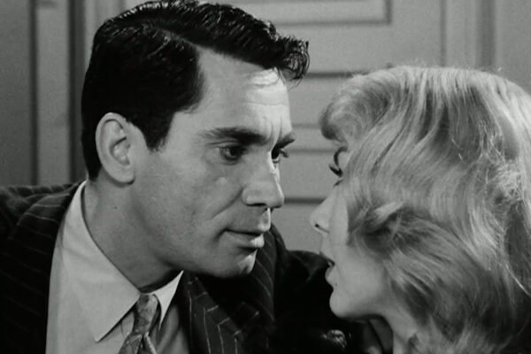 Anthony George and Susan Cummings get cozy in what can be loosely described as the series' only love scene.