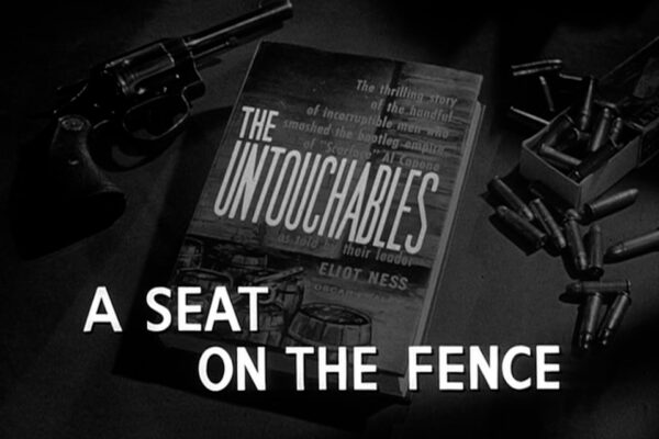 """""""A Seat On The Fence"""" originally aired on November 24th, 1960. The underworld reduces Chicago's legal drug supply as a diabetic gangster's tenuous grasp on his operation is threatened by a neutral reporter and an incriminating letter."""