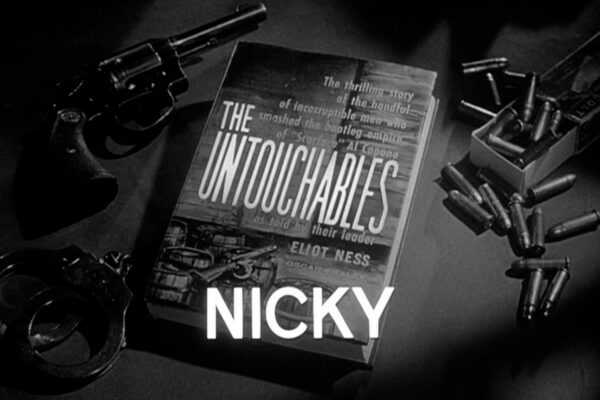 Nicky originally aired on November 3rd, 1960. After his father is killed during a raid, a teenager targets Eliot Ness with a personal vendetta as the Purple Gang threatens to muscle in on an elusive whiskey operation in Chicago.