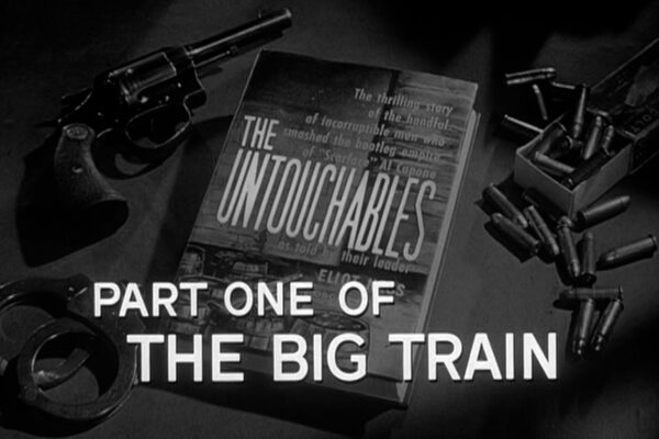 """Part One of The Big Train"" originally aired on January 5th, 1961. Eliot Ness uncovers a plot to break Al Capone off a train destined for Alcatraz prison"