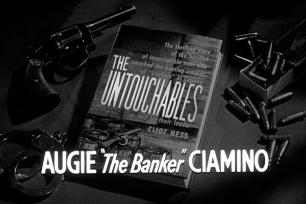 """""""Augie 'The Banker' Ciamino originally aired on February 9th, 1961. A brutal gangster's hold onterrified Italian immigrants begins to fracture when one of them confides in Eliot Ness."""