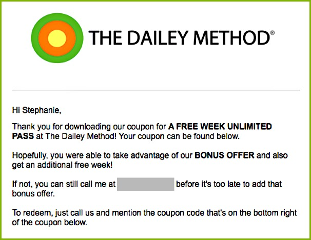 the dailey method email