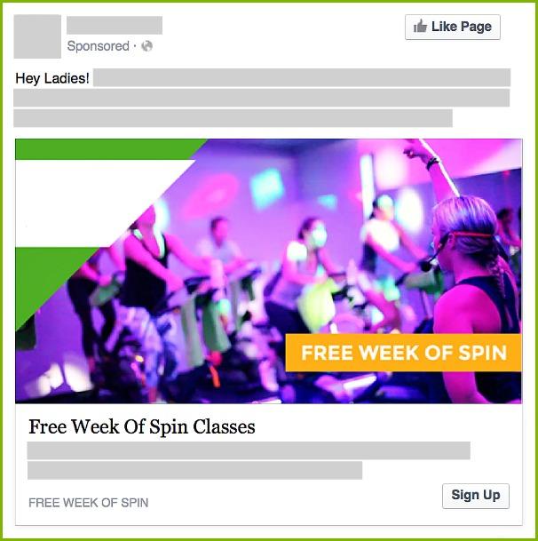 Facebook Leads ad