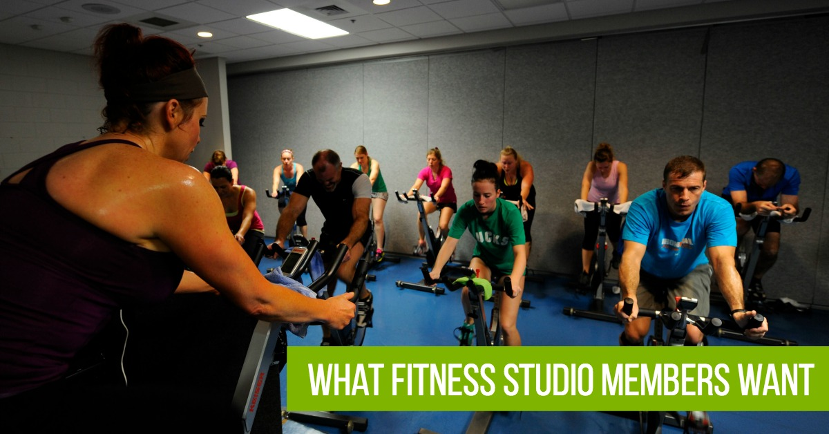 what fitness studio members want