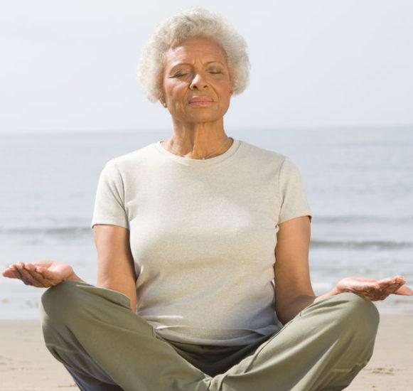 memory care living and meditation and yoga