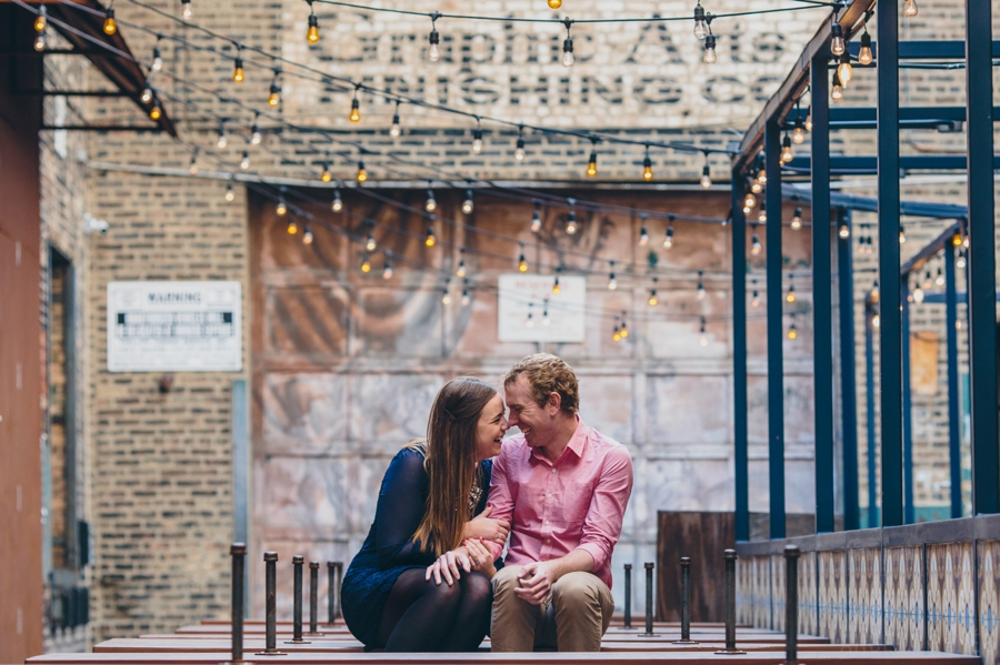 Creative outdoor West Loop Engagement Session, Angela Renee Photography